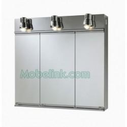 armario con espejos inox 3 aplique romi 3 puertas grande