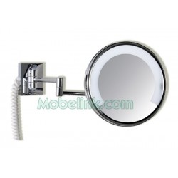 Espejo de Aumento Luz Fluorescente, Zenit - Cromo