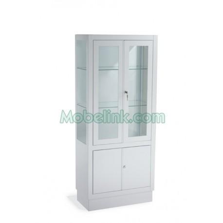vitrina armario para clínicas con 4 puertas y un ancho de 60