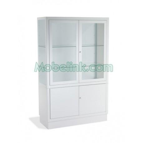 vitrina hospitalaria con 4 puertas y un ancho de 100 centímetros