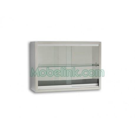 vitrina hospitalaria para colgar en la pared de acero inox y ancho 70