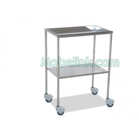 mesa auxiliar cromada superior bandeja