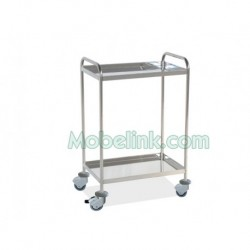 mesa auxiliar hospitalaria 2 entrepaños y paragolpes