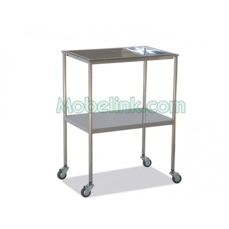 mesa auxiliar clínica superior extraible inferior liso