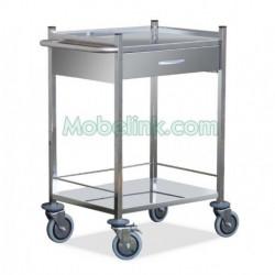 carro clínico de urgencias con un cajón superior