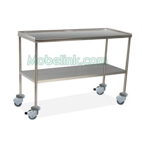 mesa instrumental clínico de 140 de largo