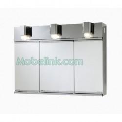 armario metálico puertas espejo romi baño inoxidable